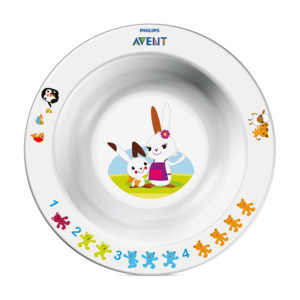 Глубокая тарелка Philips AVENT SCF706/00 с развивающими рисунками