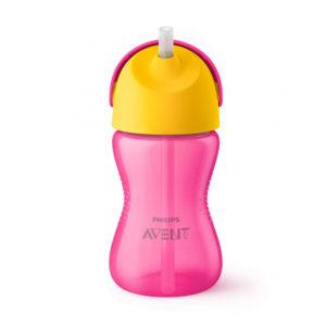 Чашка с трубочкой Philips AVENT 300 мл 12 мес+ Розовая (SCF798/02) - photo2