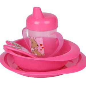 Набор для кормления Nuvita 12м+ Розовый 4 предмета. NV1495Pink - photo2