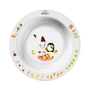 Глубокая тарелка Philips AVENT SCF704/00 с развивающими рисунками