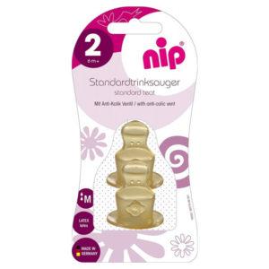 Соска латексная антиколиковая Nip, 6 мес+ (33005)