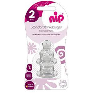 Соска силиконовая антиколиковая Nip, 6 мес+ (33003)