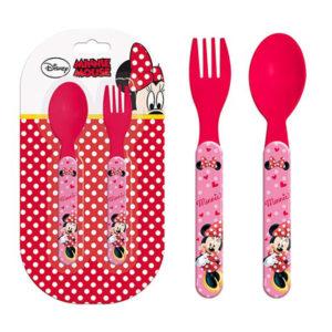 Набор вилка+ложка Disney Minnie Mouse (Минни Маус) 13,5 см Розовый LR0199