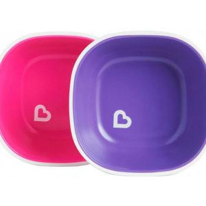 Набор тарелок Munchkin Splash Bowls 2 шт Розовая и фиолетовая (012446.01) (5019090124461)