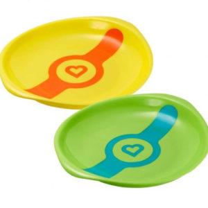 Набор термочувствительных тарелок Munchkin White Hot, 2 шт., зеленый и желтый (012104.01)