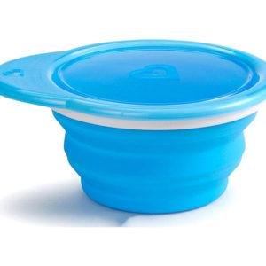 Тарелка для кормления дорожная Munchkin Go Bowl