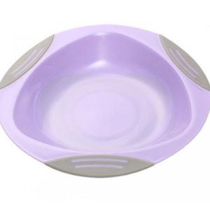 Тарелка на присоске BabyOno, фиолетовый (1062)