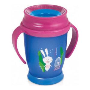 Чашка с ручками LOVI Folky Junior Следуй за кроликом, 250 мл