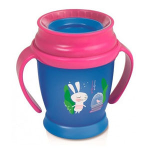 Чашка с ручками для девочек LOVI Folky mini Следуй за кроликом, 210 мл