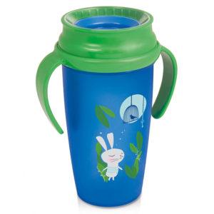 Чашка с ручками LOVI Folky Active Следуй за кроликом, 350 мл