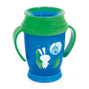 Чашка с ручками LOVI Folky mini Следуй за кроликом, 210 мл