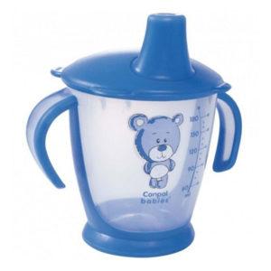 Чашка-непроливайка Canpol babies Друг медвежонок, 180 мл, голубой (31/500)