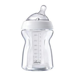 Бутылочка стеклянная Chicco Natural Feeling, 250 мл (80623.00)