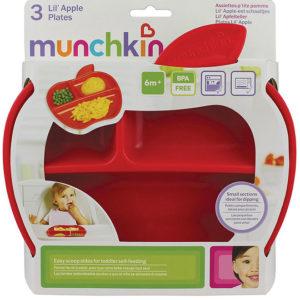 Набор тарелок Munchkin Lil Apple, 3 шт. (12102) - photo2