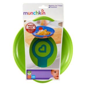 Набор термочувствительных тарелок Munchkin White Hot, 2 шт, зеленый и оранжевый (012104.021) - photo2