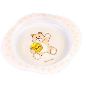 Тарелка Canpol babies Медвежонок, желтый (56/008 Желтый)