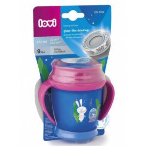 Чашка с ручками для девочек LOVI Folky mini Следуй за кроликом, 210 мл - photo2