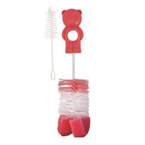 Щетка для бутылочек и сосок Мишутка с губкой (2/410) - photo2