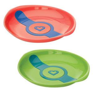 Набор термочувствительных тарелок Munchkin White Hot, 2 шт, зеленый и оранжевый (012104.021)
