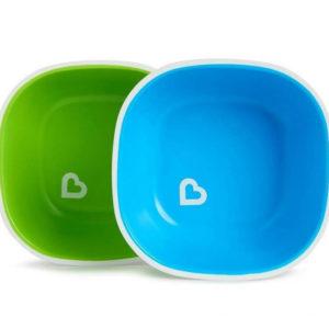 Набор тарелок Munchkin Splash Bowls 2 шт Зеленая и голубая (012446.02)