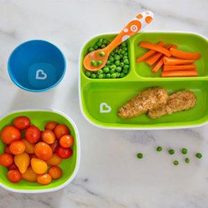 Набор тарелок Munchkin Splash Divided Plates 2 шт Зеленая и голубая (012448.02) - photo2