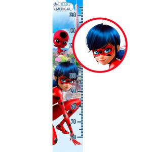 Детский Ростомер наклейка Miraculous «Ladybug»