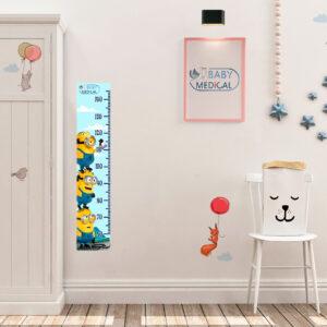 Детский Ростомер наклейка Minions Sky - photo2