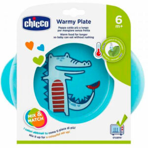 Термоустойчивая тарелка Chicco Warmy Plate, 6 мес+